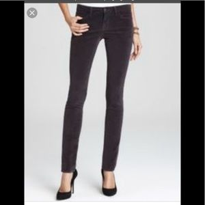 J Brand low rise pencil leg skinny corduroy pants